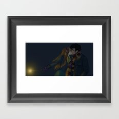 Winter Hinny Dark Framed Art Print