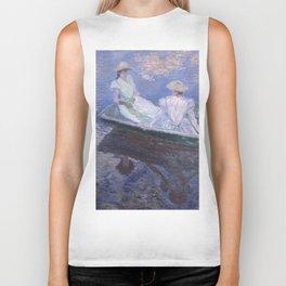 """Claude Monet """"On the Boat"""" Biker Tank"""