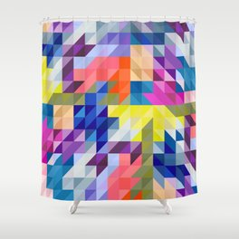 Background colour Shower Curtain