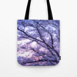 Periwinkle Lavender Flower Tree Tote Bag