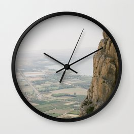 Mt. Arbel and the Sea of Galilee - Holy Land Fine Art Film Photography Wall Clock