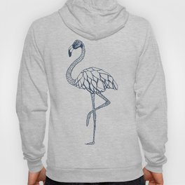 Navy Blue Flamingo Hoody