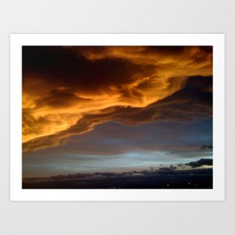 Clouds with a Story Sunset Art Print
