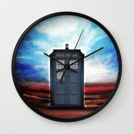 Tardis In Space Wall Clock