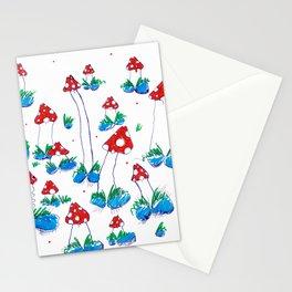 Crazy Xmas Mushrooms - Gift Idea Stationery Cards
