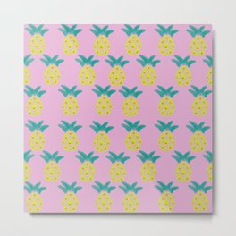 Pineapple was everywhere Metal Print