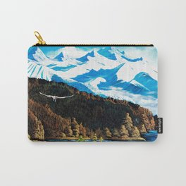 The Rockies and an eagle Carry-All Pouch