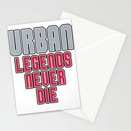 Urban Legends Never Die Football Ohio Pride Stationery Cards