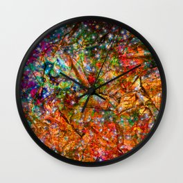gift wrapping paper Wall Clock