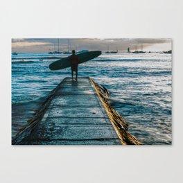 Waikiki Surf Canvas Print