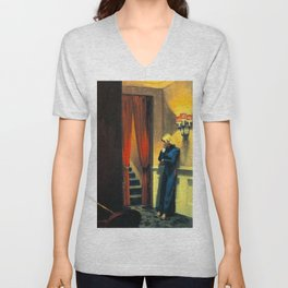 NEW YORK MOVIE - EDWARD HOPPER Unisex V-Neck