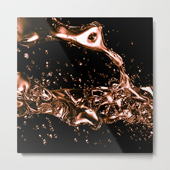 Melted Copper Design Metal Print