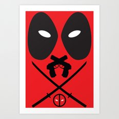 Deadpool - Wade Wilson Art Print