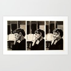 Phoning Mum Art Print
