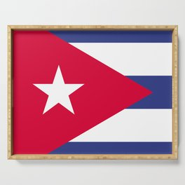 Cuba flag emblem Serving Tray