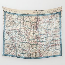 Vintage Map of Colorado (1921) Wall Tapestry