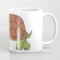 tortoise Mugs featuring tortoise by siloto