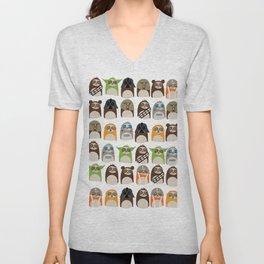 Science Fiction Sloths Unisex V-Neck