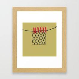 Fancy laundry pop art print Framed Art Print