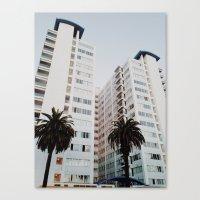 santa monica Canvas Prints featuring Santa Monica by loope.