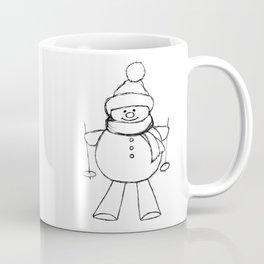 Skier Snowman AZ02 Coffee Mug