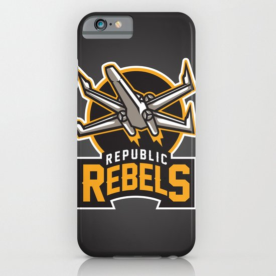Republic Rebels - Black iPhone & iPod Case
