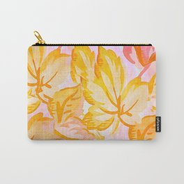 Soft Painterly Pastel Autumn Leaves Carry-All Pouch