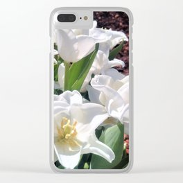 Creamy White Meringue Flowers Clear iPhone Case