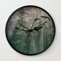 secret life Wall Clocks featuring Deep Secret by RichCaspian