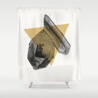 crystals Shower Curtains featuring crystals by morgan kendall