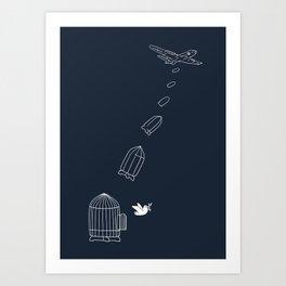 Peace Bomber Art Print