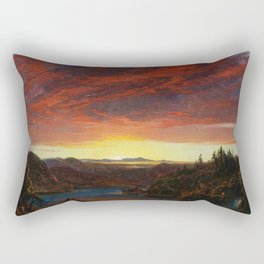 Twilight, A Sketch Landscape by Frederic Edwin Church Rectangular Pillow