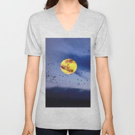 On a left along the moon and further to the east. Unisex V-Neck