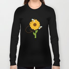 Bees On Sunflowers Long Sleeve T-shirt