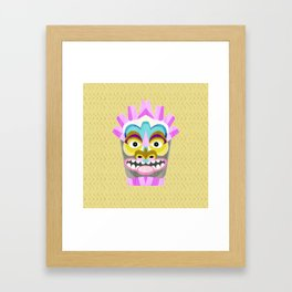 Aloha Tiki Mask Framed Art Print