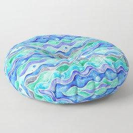 Ocean Pattern - Dolphin Floor Pillow
