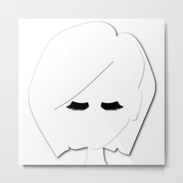 Eyelash Doll Metal Print