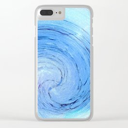 Ice Spiral Clear iPhone Case