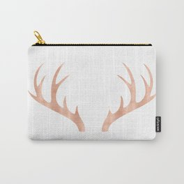 Antlers Rose Gold Deer Antlers Carry-All Pouch