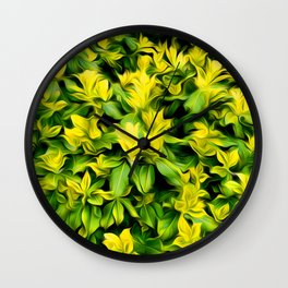 Painted Foliage Wall Clock