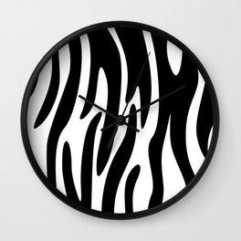 Animal Print Pattern – Zebra 3 Wall Clock