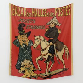 Vintage toy and holiday gifts store Paris ad Wall Tapestry