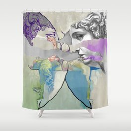 Ghost in the Stone #2 Shower Curtain