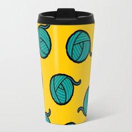 Wool & Yarn Pattern Travel Mug