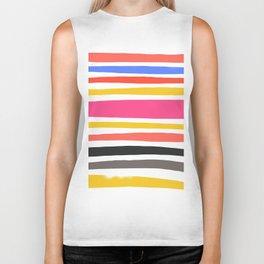 Streifen 001 / Multicolor Stripe Pattern Biker Tank