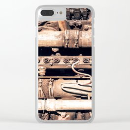 Complex Metal Playing Field Clear iPhone Case