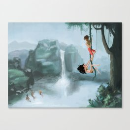Young and lovin' it Canvas Print