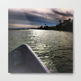 Always Rock the Boat Metal Print
