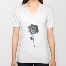 Royal Blue Rose Unisex V-Neck