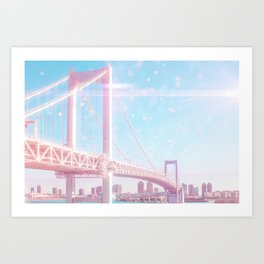 Marshmallow Bridge Art Print